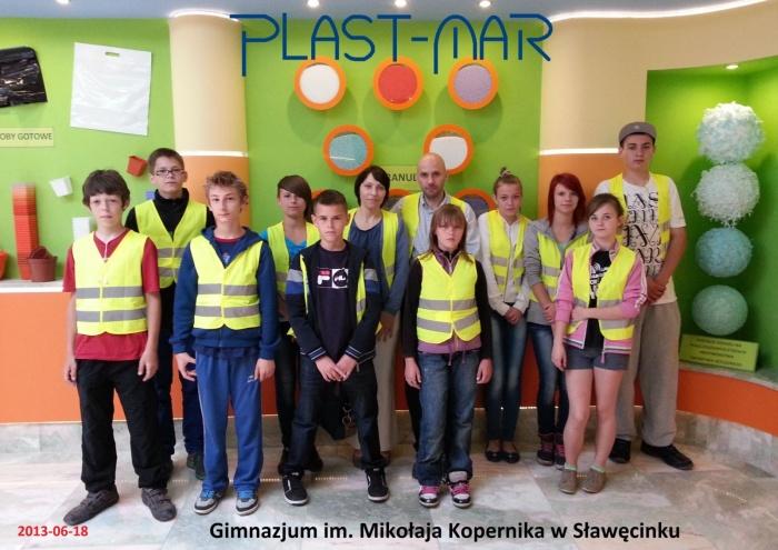 Plast-Mar - Recykling tworzyw sztucznych - Plast-Mar.pl - Gimnazjum im. Mikołaja Kopernika - Sławęcinek