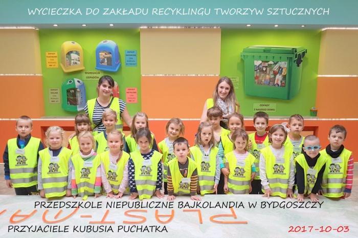 """Plast-Mar - Recykling tworzyw sztucznych - Plast-Mar.pl - Przedszkole Niepubliczne """"Bajkolandia"""" z Bydgoszczy"""