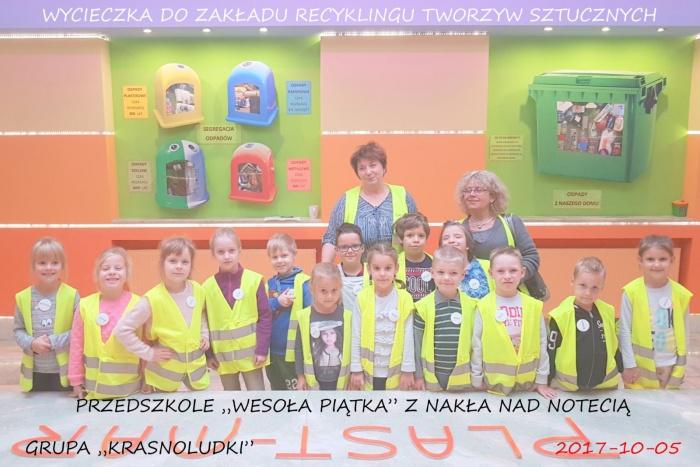 """Plast-Mar - Recykling tworzyw sztucznych - Plast-Mar.pl - Przedszkole """"Wesoła Piątka"""" z Nakła nad Notecią"""
