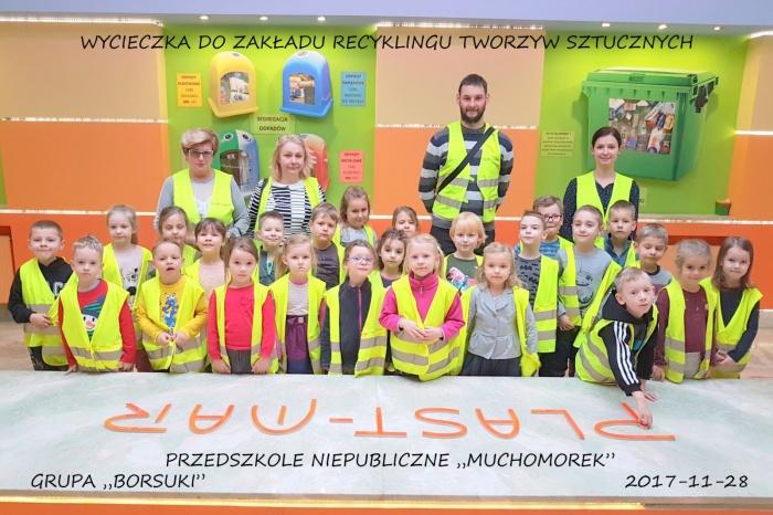 """Plast-Mar - Recykling tworzyw sztucznych - Plast-Mar.pl - Przedszkole Niepubliczne """"Muchomorek"""""""