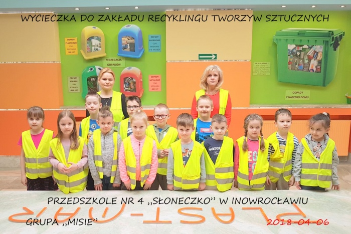 """Plast-Mar - Recykling tworzyw sztucznych - Plast-Mar.pl - Przedszkole nr 4 """"Słoneczko"""" w Inowrocławiu"""