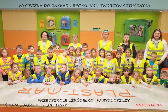"""Plast-Mar - Recykling tworzyw sztucznych - Plast-Mar.pl - Przedszkole """"Źródełko"""" z Bydgoszczy"""