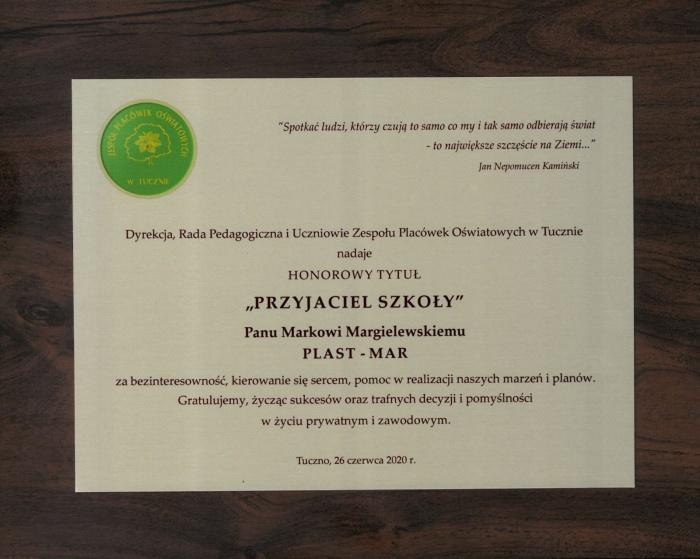 PRZYJACIEL SZKOŁY - Plast-Mar - Recykling tworzyw sztucznych - Plast-Mar.pl